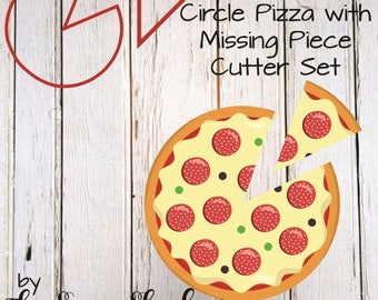 Circle Pizza with Missing Piece Cookie Cutter Set