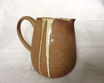 large wood-fired pitcher with buttermilk glaze