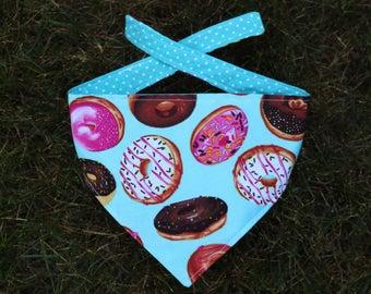 Donut love reversible dog bandana