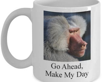 Funny Mug for Clint Eastwood Fans - Go Ahead, Make My Day