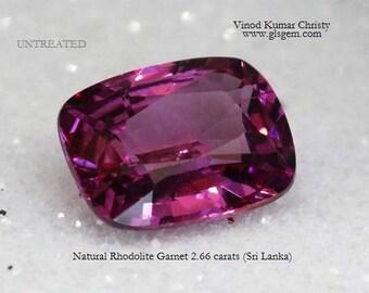 Rhodolite Garnet 2.66cts