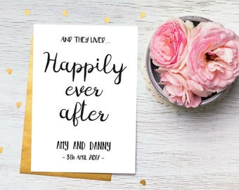 Wedding Gift Print, Happily ever after