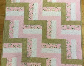 Rail Fence Baby Quilt Kit Pre-Cut Ready to Sew