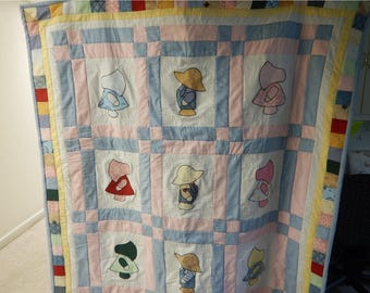 Quilts - Sunbonnet Sue/Sam Quilt  Free Shipping