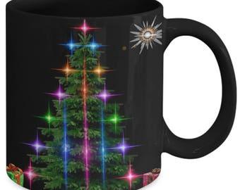 Fractal Large Christmas Tree Design - Ceramic Mug for Coffee or Tea - 11oz and 15oz