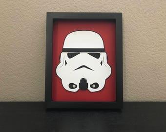 stormtrooper STAR WARS 3D paper art