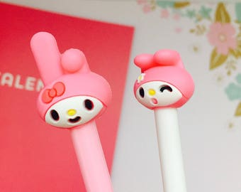 2 sweet melody pens/ kawaii bunny pens! Kawaii japanese stationery pens