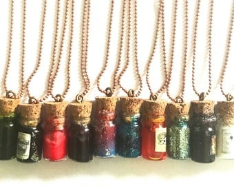 Glass Vial Pendant (color may vary)