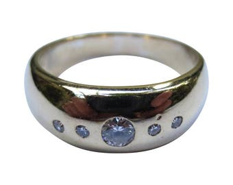 14k Gold & Diamond Edwardian Engagement Ring