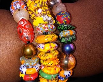 African Beads Bracelets