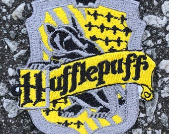Hufflepuff Embroidered Sew On Iron On Patch DIY Emojis Harry Potter