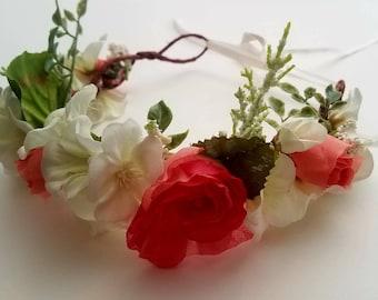 Flower Crown -Pink Roses