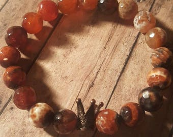 Unisex Brown Agate beads