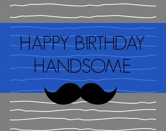 Happy Birthday Handsome [Pack of 6 Cards]