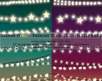 String Lights Clip Art II