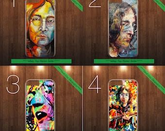 John Lennon The Beatles Imagine hard 2d PHONE CASE COVER fits iPHONE 4 5 6 7+