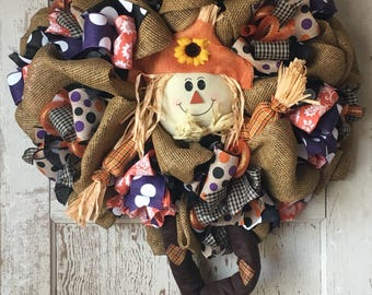 FALL in Love Scarecrow Wreath