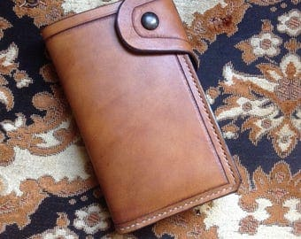Leather biker wallet