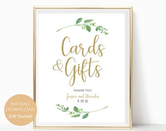 Personalized Cards and Gifts Sign Printable Cards and Gifts Template Cards and Gifts PDF Instant Download Gifts Table 8x10, 5x7, 4x6 Jasmine