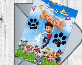 Paw Patrol Digital Invitation
