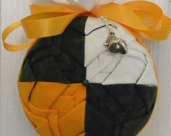 Personalized Christmas Ornament - Green & Gold