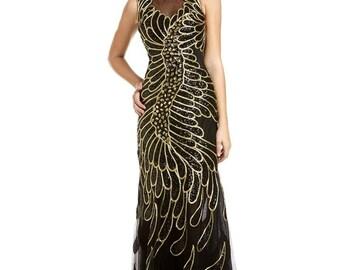 NEW TEMPTATION dress 3060 Temptation Dress, Black and Gold