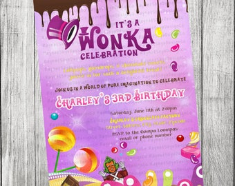 Willy Wonka Invitation