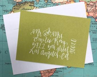 Custom Addressed Envelopes, Calligraphy Envelopes, Wedding Invitations