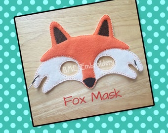 Fox Mask- Dress Up-Pretend Play-Child's Imaginary Play- Birthday Party Favor-Theme Parties-Halloween Costume Mask-Photo Prop