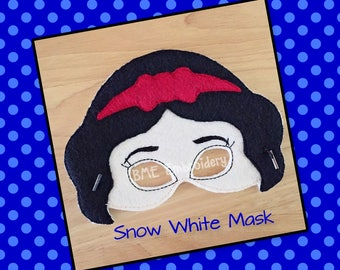 Snow White Mask-Inspired-Dress Up-Halloween Mask/Costume-Pretend Play-Imaginary Play- Birthday Party Favor-Theme Parties-Princess Party