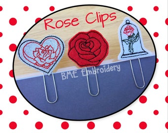 Rose Paper Clips-Planner Clips-Planner Accesory-Craft Clips-Journal Clip-Bookmark-Paper Clips for Planners-Agenda Clip