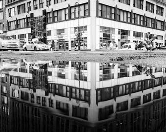 New York City Street Reflection - Photo Print - Digital Download