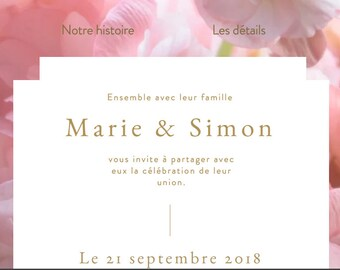Invitation, save the date, faire-part wedding