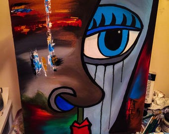 Colorful Abstract Face Painting