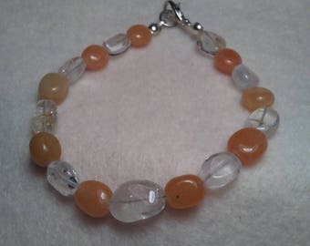 Carnelian and Citrine Beaded bracelet