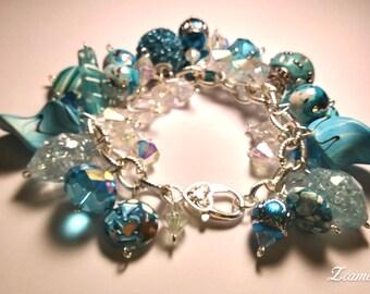 Chunky Beaded Cluster Bracelet