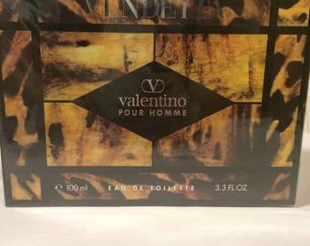 Vendetta By Valentino Pour Homme Eau De Toilette Splash 3.3oz Sealed Box Vintage