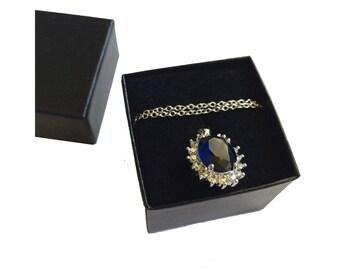 Sapphire Blue Cubic Zirconia Necklace