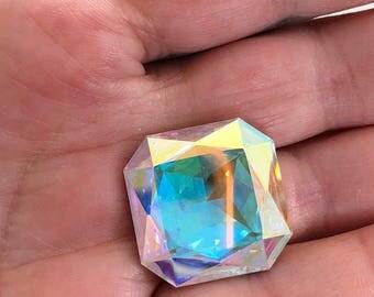 Swarovski 4675 Crystal AB 25mm Square