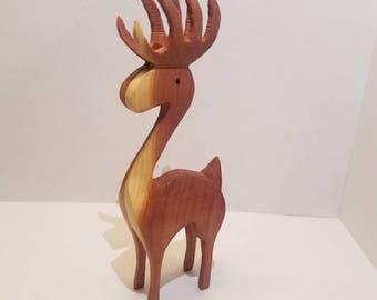 3d wooden christmas tree Reindeer ornament decoration