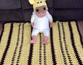 Giraffe-Colored Baby Blanket