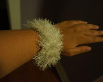 Crochet Fun Fur Bracelet