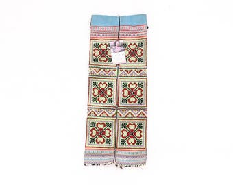 Hand Embroidered Hmong Hill Tribe Fabric from Thailand