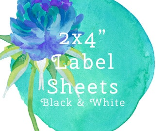 """Labels-Print for me 2""""x4"""" Print For Me- Black and White/Ingredients-Bath Bomb Label/Shower Steamers Label/Ingredients"""