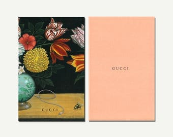 Floral Notebook, Gucci - notebook set, sketchbook, blank notebook, plain notebook, blank journal, plain journal, abstract, retro, hardcover