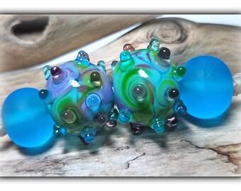 Mermaid Cove Earring Set Lampwork Beads