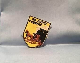 "pennsylvania dutch country vintage 2"" shield patch"