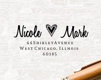 Personalized Wedding Stamper, Wedding Stamp, Custom Address Stamp, Return Address Stamper, Return Address Stamp, Custom Stamp, Rubber Stamp