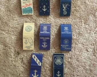 Vintage US Navy Matchbooks