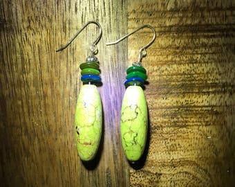 Lime drop earrings